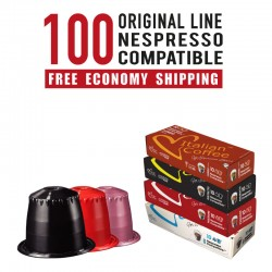 100 Nespresso compatible Capsules bundle Italian Coffee line
