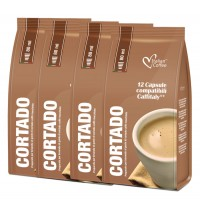 48 CORTADO macchiato drinks SALE - Verismo® compatible pods