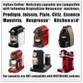 200 Nespresso Compatible Capsules Italian Coffee