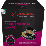 Ginseng coffee - Unsweetened  (Nespresso system)