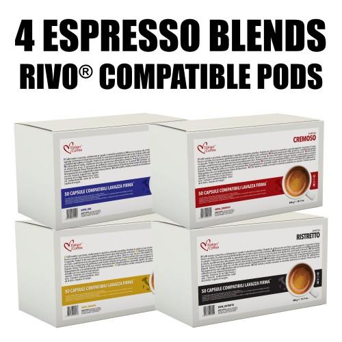 100 Capsules Rivo 174 Compatible 100 Capsules Rivo Mix All