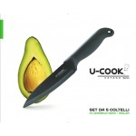 U-COOK Katana series: black ceramic knives set