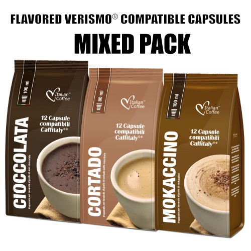 Caffitaly 174 Compatible Pods 48 Flavored Drinks 48