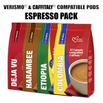 Caffitaly® compatible pods - 48 Espresso drinks