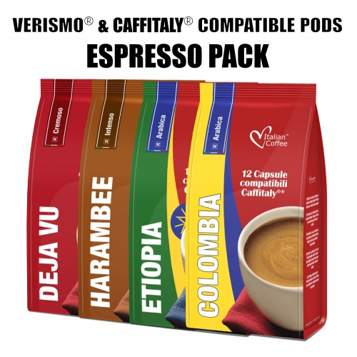 Caffitaly 174 Compatible Pods 48 Espresso Drinks 48