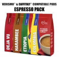Verismo® compatible pods - 48 Espresso drinks