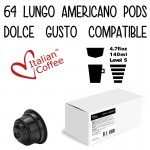 Dolce Gusto Lungo Americano - 64 pods